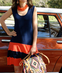bright, summery tribal print handbag from Journie. It's called Tribal Illusions Traveller.