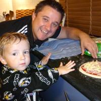 pizza night dad son