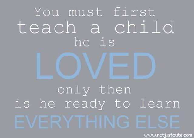 teach a child they are loved